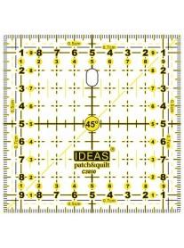 REGLA IDEAS PATCHWORK CUADRADA 10X10cm