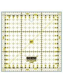 IDEAS REGLA PATCHWORK CUADRA 15x15cm